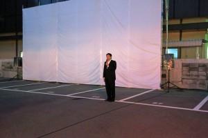第3回まちなか星空映画祭&第4回路地裏ナイトバル 室井市長ご挨拶